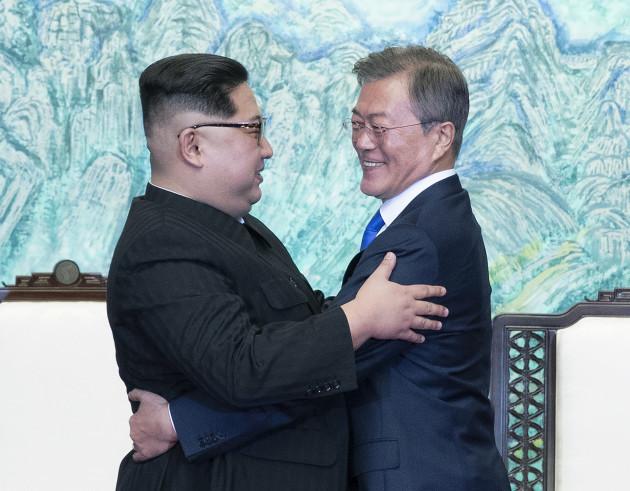 South Korean President Moon and North Korean leader Kim - Inter-Korean summit