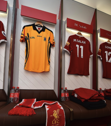 968d95e84 St Peter s GAA jersey hangs in Liverpool dressing room as club shows ...