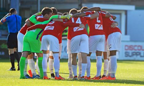 The Sligo team huddle