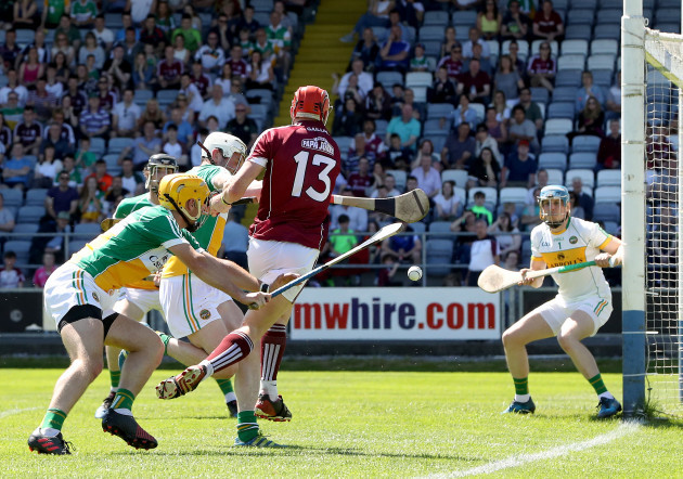 Conor Whelan has a shot on goal saved