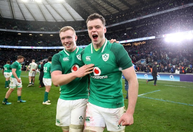 Dan Leavy and James Ryan celebrate winning