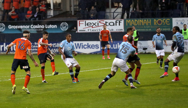 Luton Town v Blackpool - Sky Bet League Two - Play-offs - Second Leg - Kenilworth Road