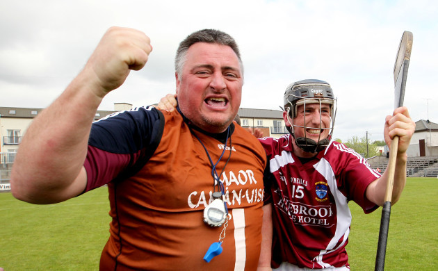 Peter Leahy and Eoin Price celebrate