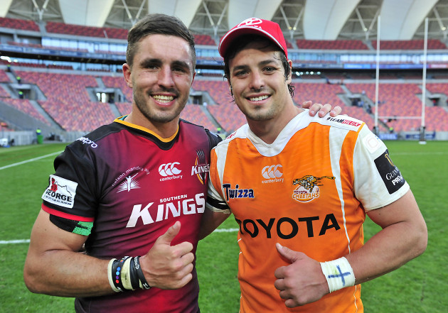 Francois Venter and Jacques Nel after the game