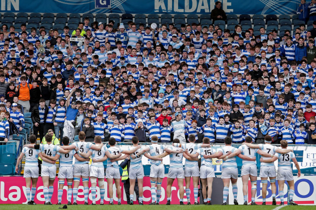 Blackrock players and supporters ahead of the game