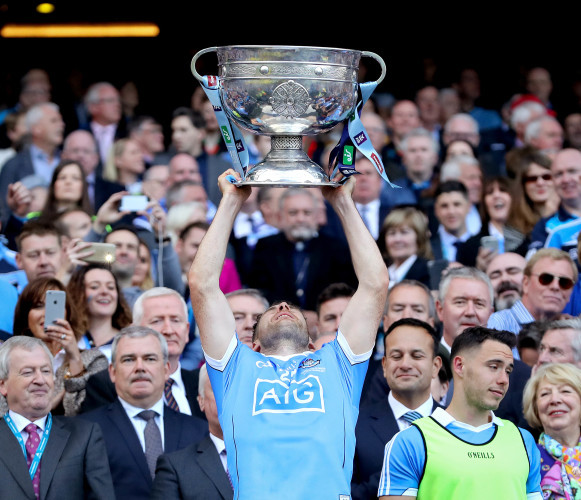 Kevin McManamon lifts The Sam Maguire