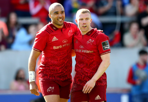 Simon Zebo and Keith Earls at the final whistle