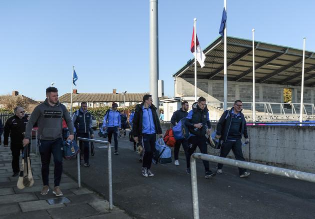 The Dublin team arrive