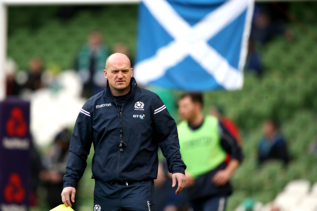 Gregor Townsend before the game