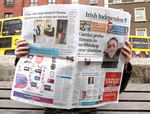 File Photo IRELAND'S HIGHLY CONCENTRATED media ownership has seen it slip down the press freedom rankings