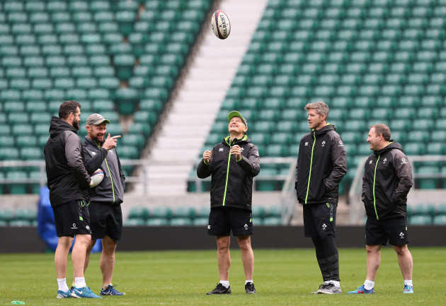 Andy Farrell, Greg Feek, Joe Schmidt, Simon Easterby and Richie Murphy