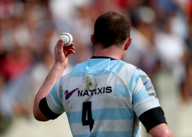Donnacha Ryan with a sliotar that was thrown from the crowd after the game