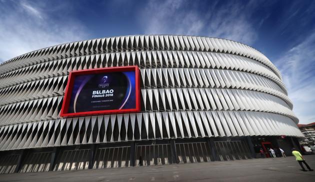 A view of the San Mamés Stadium
