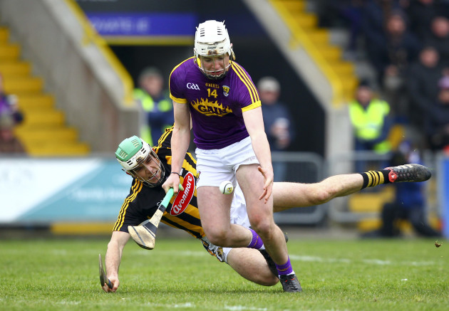 Rory O'Connor is fouled by Paddy Deegan