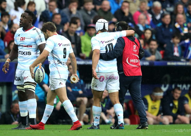 Pat Lambie leaves the pitch injured