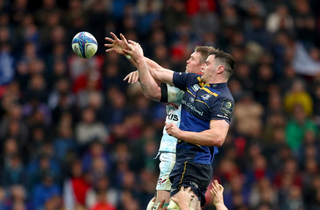 James Ryan wins the line out from Donnacha Ryan