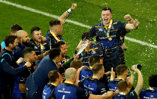 James Ryan celebrates with team mates