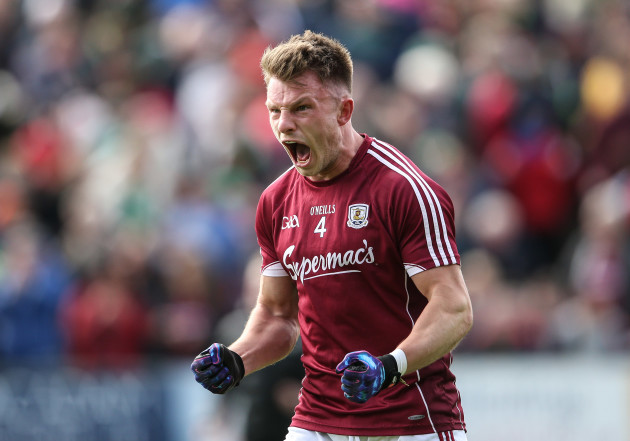 Eoghan Kerin celebrates at the final whistle