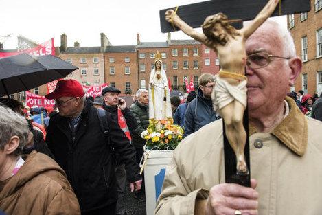 Ireland: Anti-abortion Protest in Dublin