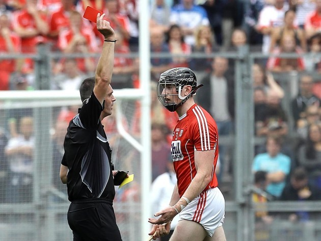 Cork's Damien Cahalane is sent off