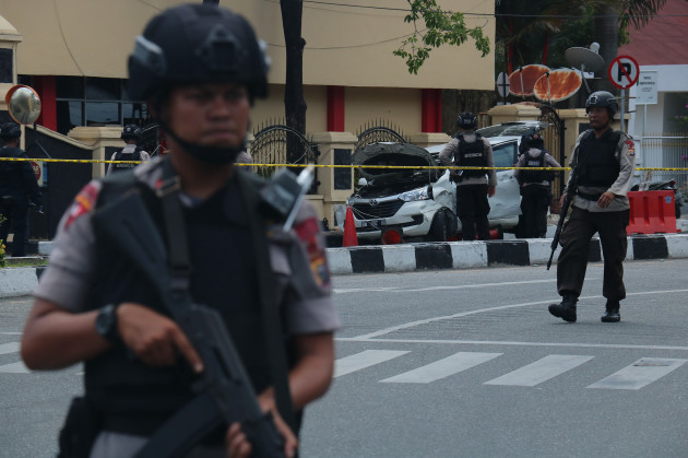INDONESIA-RIAU-POLICE HEADQUARTER-BOMB ATTACK