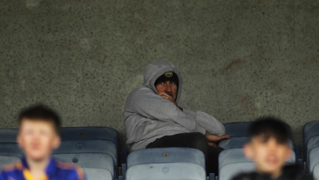 Stephen Wallace pictured in the stand during todays game