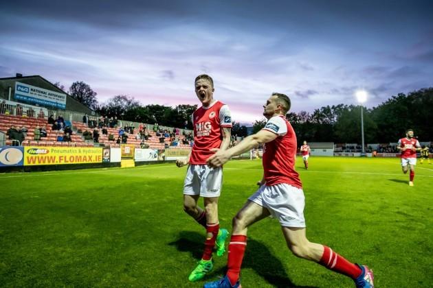Thomas Byrne celebrates scoring a late penalty