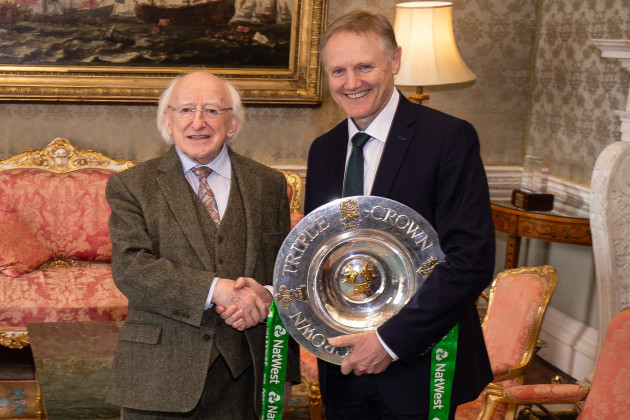 Joe Schmidt with President Michael D. Higgins