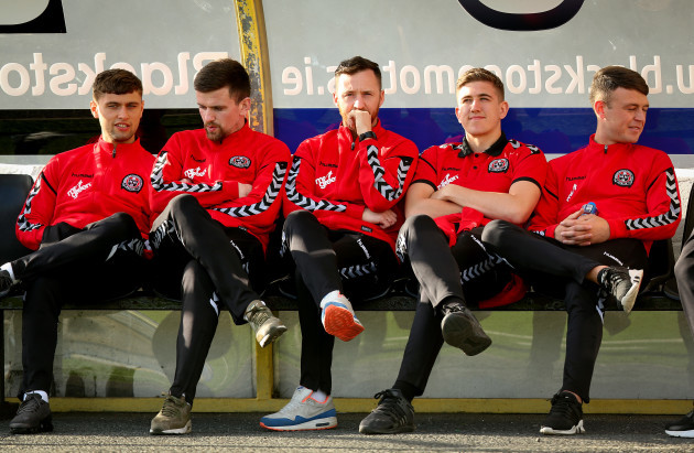 Bohemians players pictured before the game