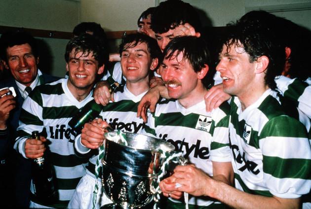 Rovers' captain Pat Byrne