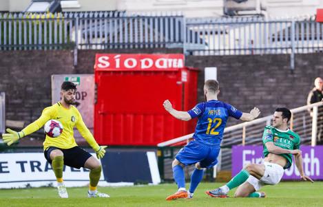 Jimmy Keohane scores a goal