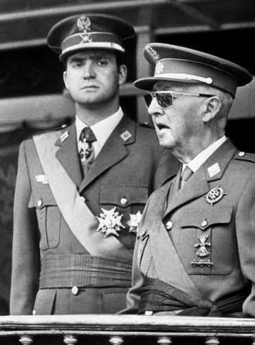 General Franco and Prince Juan Carlos - Madrid, Spain