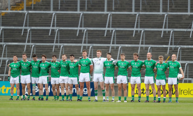 Limerick during the national anthem