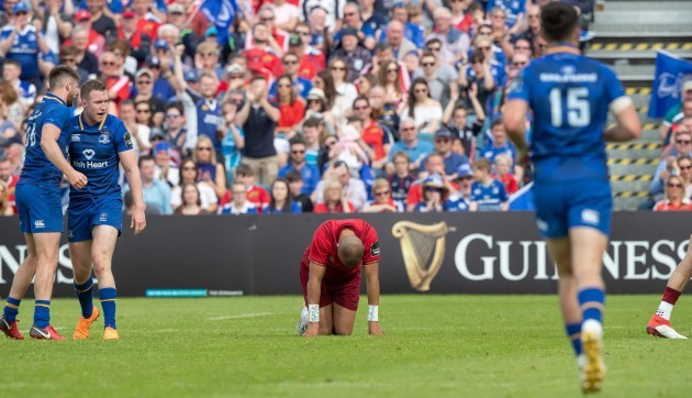 Simon Zebo reacts after throwing a poor pass