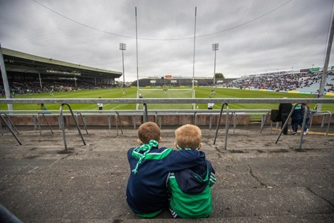 Jonathan and Jamie Byrne watch the minor game