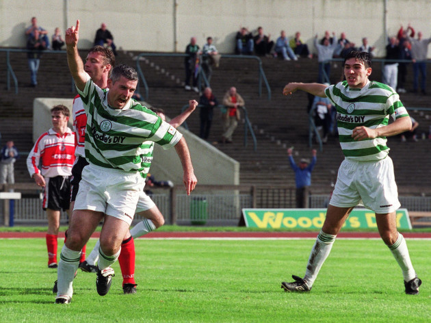 Tony Cousins celebrates 26/9/1999