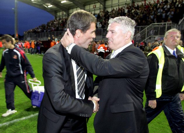 Manager Tony Cousins and Manager Roy Keane