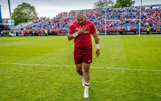 Simon Zebo after his last game for the province