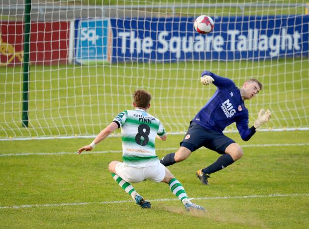 Ronan Finn scores a goal