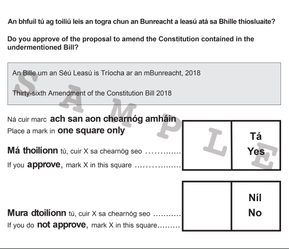Don't be confused at the ballot box - you're voting on the 36th