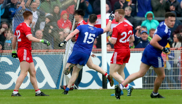 Conor McManus celebrates scoring a late point