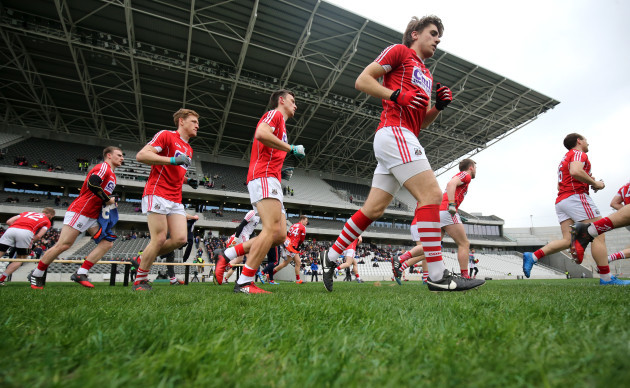 Cork players after the team shot