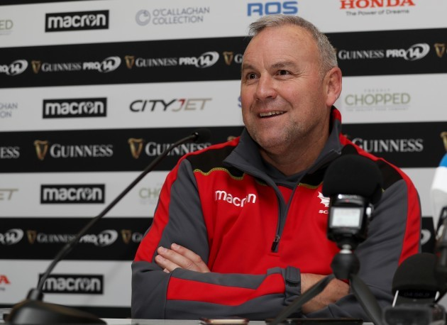 Wayne Pivac during the post match press conference
