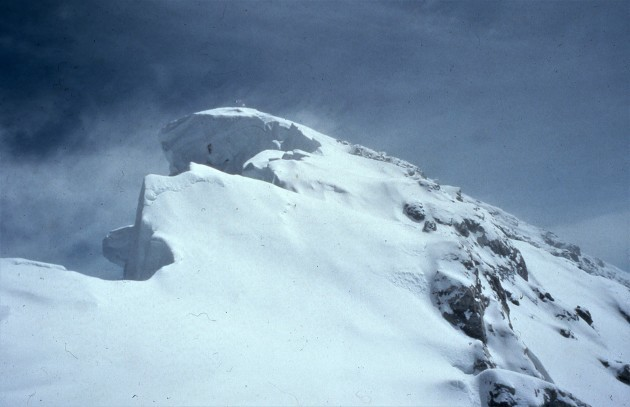 Approaching the summit