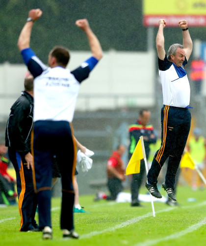 Michael Ryan celebrates after his sides scored a second half goal