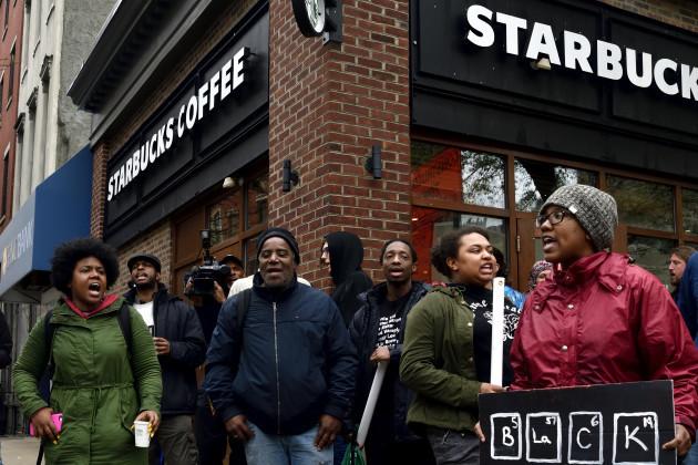 PA: Anti-Racism Protest at Starbucks in Philadelphia