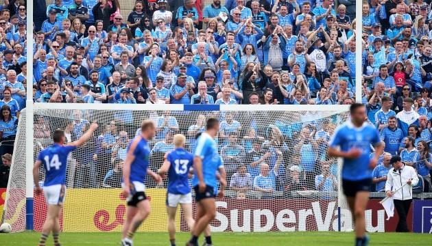 Dublin fans applaud Wicklow's first point