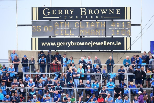 A view of the half time scoreline