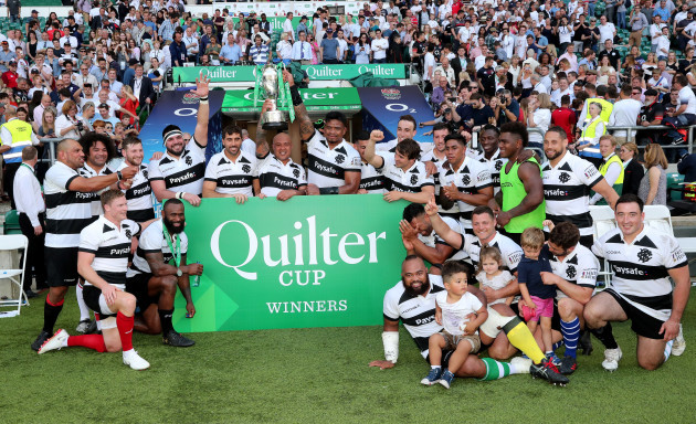 The winning Barbarians team with the Quilter Cup