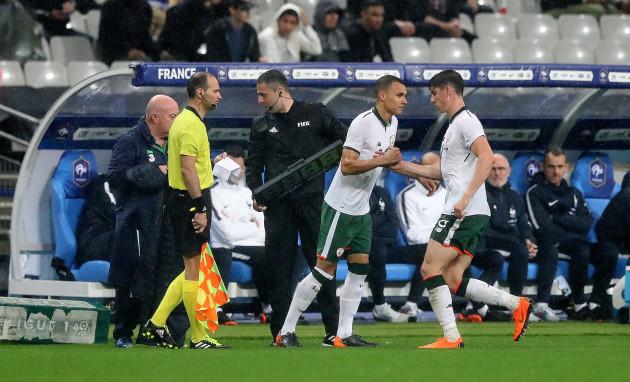 Graham Burke replaces Callum O'Dowda to make his full international debut